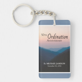 50th Anniversary of Ordination Congratulations Keychain