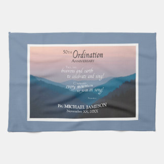 50th Anniversary of Ordination Congratulations Kitchen Towel