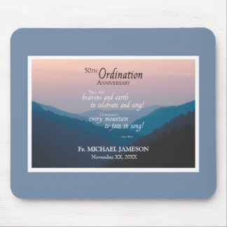50th Anniversary of Ordination Congratulations Mouse Pad