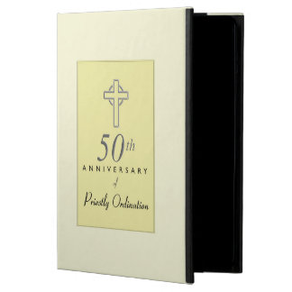 50th Anniversary of Priest with Embossed Cross Cover For iPad Air