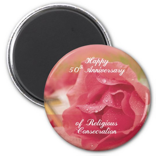 50th Anniversary of Religious Consecration Pink Ro Magnet