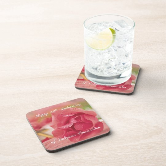 50th Anniversary of Religious Consecration Rose Coaster