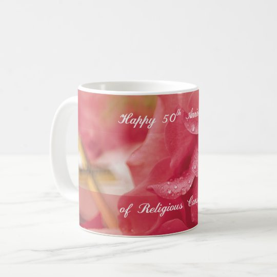 50th Anniversary of Religious Consecration Rose Coffee Mug