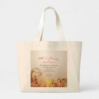 50th Anniversary of Religious Profession, Nun Large Tote Bag