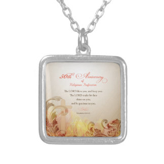 50th Anniversary of Religious Profession, Nun Silver Plated Necklace