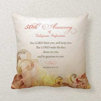 50th Anniversary of Religious Profession, Nun Throw Pillow