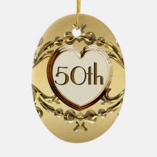 50th Anniversary Or 50th Birthday Oval Ornament