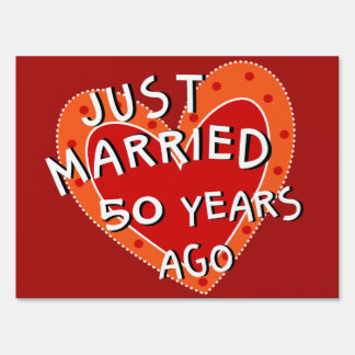 50th Anniversary Or Any Yr Whimsical Heart Gift Sign