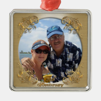 50th anniversary ornament with photo.