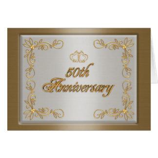 50th Anniversary party invitation card