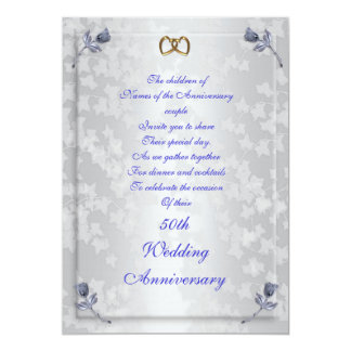 50th anniversary party invitation for parents