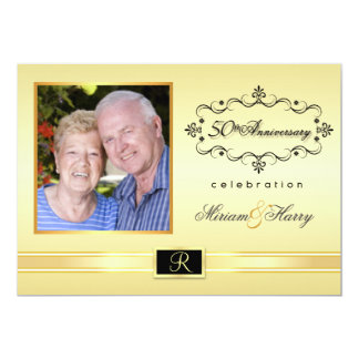 50th Anniversary Party Invitations with Photo