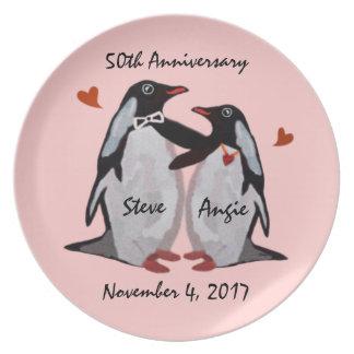 50th Anniversary Penguin Love Plate