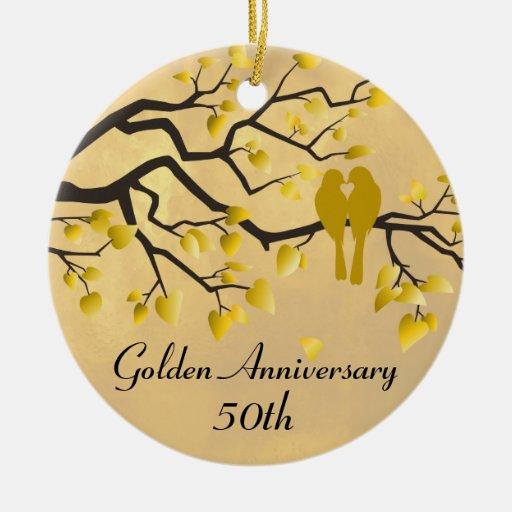 50th Anniversary Personalized Celebration Ornaments