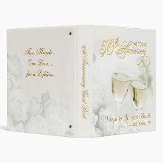 50th Anniversary - Personalized Guest Book Vinyl Binder