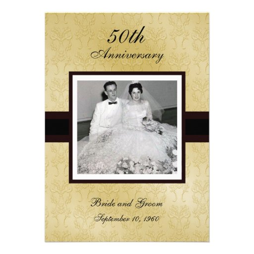 50th Anniversary Photo Invitations
