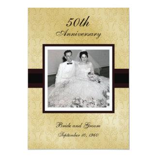 """50th Anniversary Photo Invitations 5"""" X 7"""" Invitation Card"""