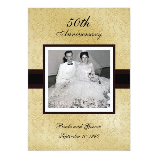 Th anniversary photo invitations zazzle