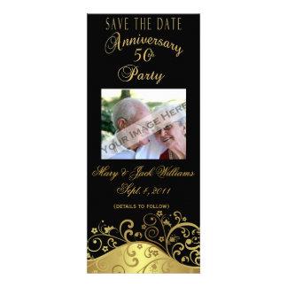 50th Anniversary Save the Date Card Invitation
