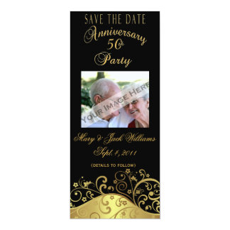 50th Anniversary Save the Date Card/Invitation Card
