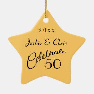 50th Anniversary Star Gift Christmas Tree Ornaments