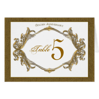 50th anniversary  Table Number Cards