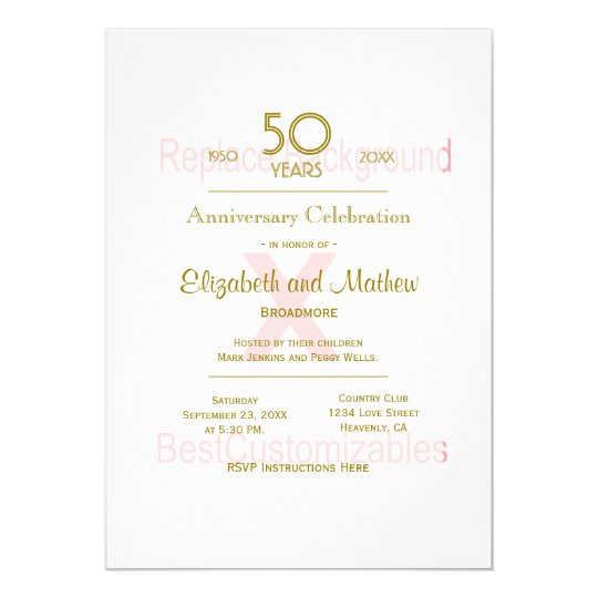 50th Anniversary Template Card