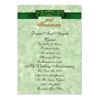 50th Anniversary vow renewal Irish Invitation