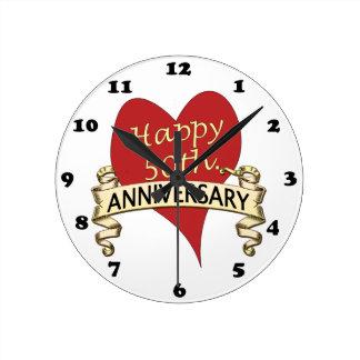 50th. Anniversary Wallclock
