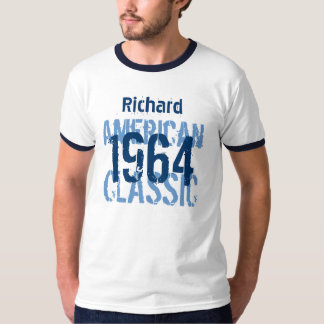 50th Birthday 1964 American Classic Blue White v2 T-Shirt