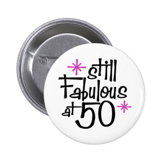 50th Birthday 2 Inch Round Button