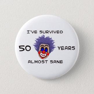 50th Birthday 2 Inch Round Button