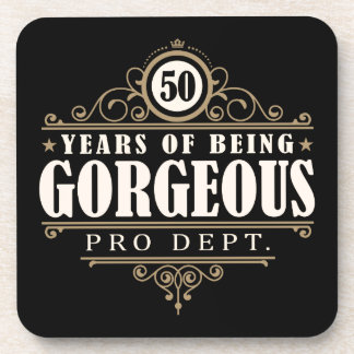 50th Birthday (50 Years Of Being Gorgeous) Coaster