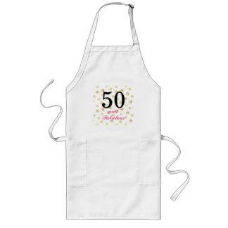 50th birthday apron