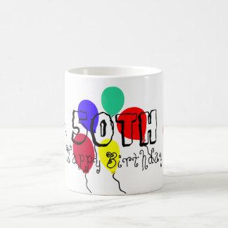 50th Birthday Balloons Milestone Mugs