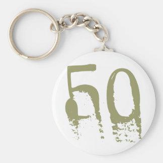 50th Birthday Basic Round Button Keychain