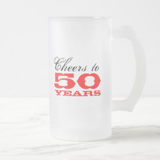 50th Birthday Beer Mug Gift for men
