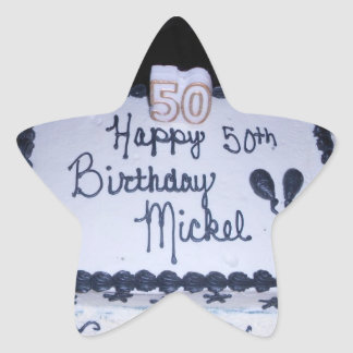 50th Birthday Cake Stickers