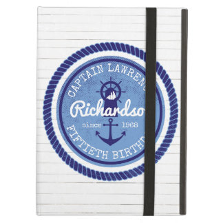 50th Birthday Captain Nautical Rope Anchor Helm Case For iPad Air