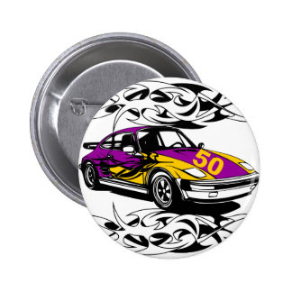 50th Birthday Car Gifts! 2 Inch Round Button