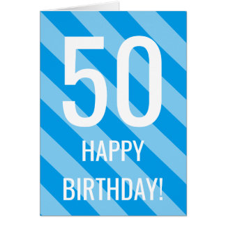 50th Birthday card for 50 year old man or woman