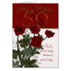 50th Birthday Card With Roses
