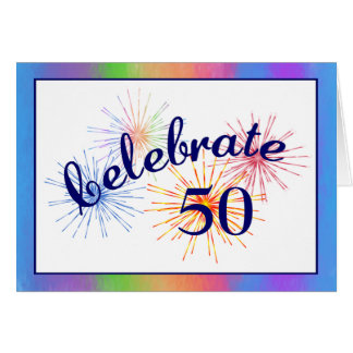 50th Birthday Celebration Card