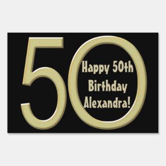 50th Birthday Custom Yard Sign
