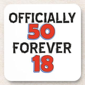 50th birthday designs coasters