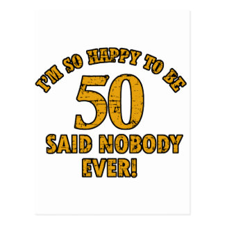 50th birthday designs postcard