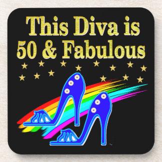 50TH BIRTHDAY FABULOUS DIVA DESIGN COASTERS