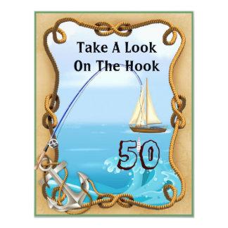 50th Birthday Fishing Invitations for MEN
