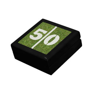 50th Birthday Football Jewelry Gift Box