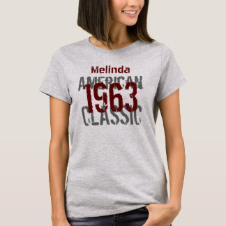 50th Birthday Gift 1963 American Classic T-Shirt